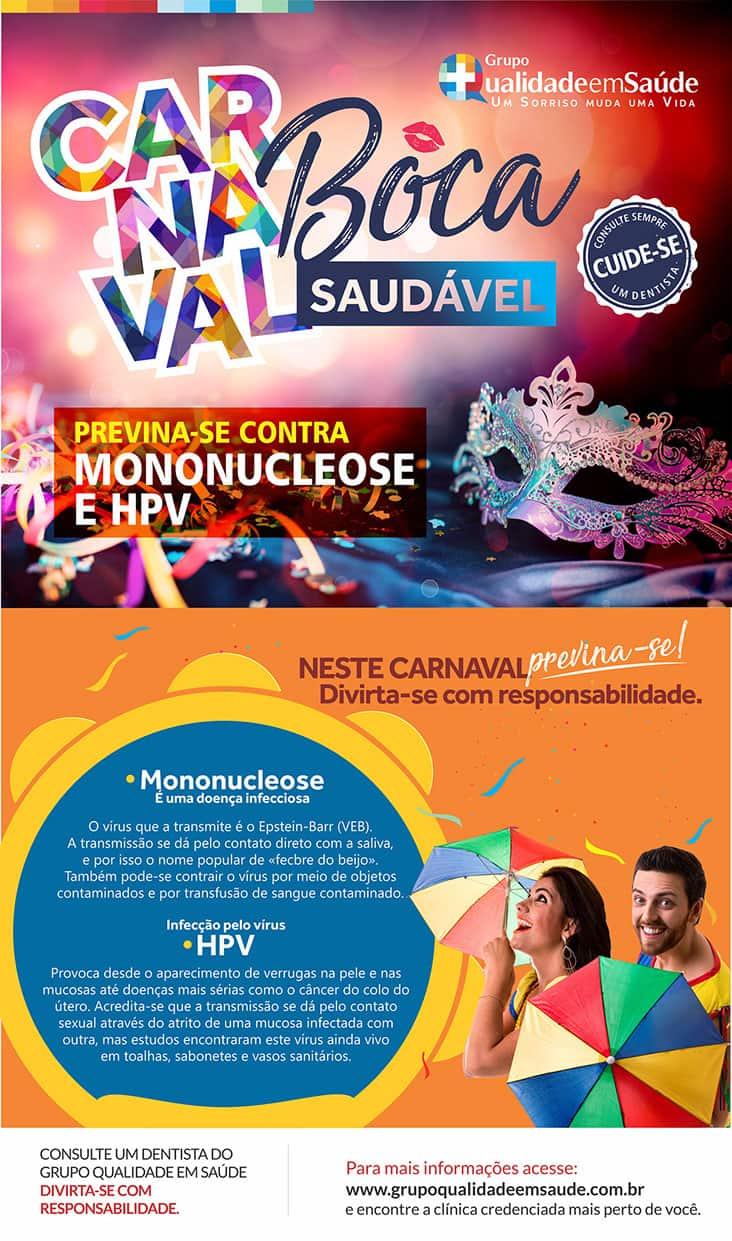 peça de divulgação da campanha contra Mononucleose e HPV