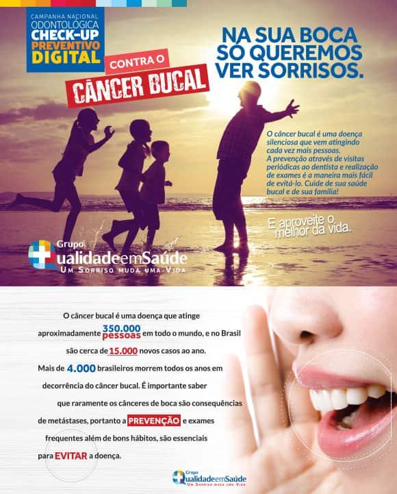 peça de divulgação da campanha contra o câncer
