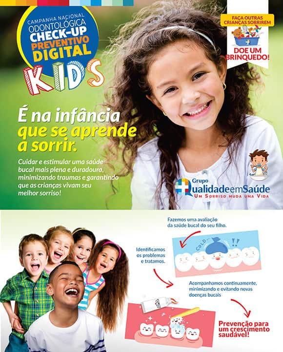 peça de divulgação da campanha nacional Check-up preventivo digital